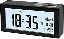Digital Wecker, Digital Wecker Uhr mit Großer LCD