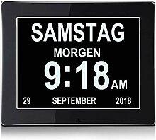 Digital Wecker, Digitaler Kalender Tag Uhr Für,