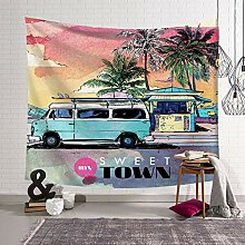 DigitaldruckWandteppiche, Wanddecke Strandtuch