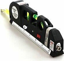 Digitale Laser Wasserwaage mit Rollmaßband, Laser