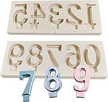 Digitale Silikonform Buchstaben Fondant Lollipop