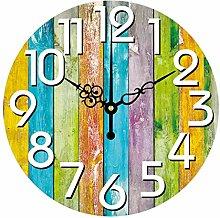 Digitale Wanduhr, stumm dekorative Uhr mit