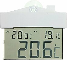 Digitales Fenster-Thermometer Hydrometer Indoor Outdoor mit Saugnapf