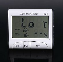 Digitales LCD-Alarm-Thermometer Hygrometer für