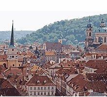 Digitales Ölgemälde Dach Tschechische Republik