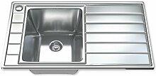 Dihl Mülleimer mit ks-1041-wst11.0Ultra Moderne Schüssel Edelstahl Küchenspüle mit Sieb und Abfall–Chrom