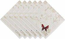 DII Küchentextilien Butterfly Napkin S/6
