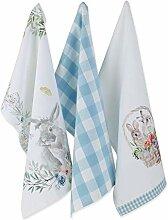 DII Küchentextilien Dishtowels, 18x28 Floral
