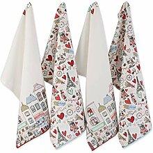 DII Küchentextilien Dishtowels, 18x28 Paris
