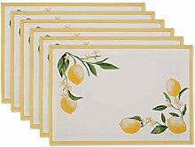 DII Küchentextilien Placemat Set Lemon Bliss