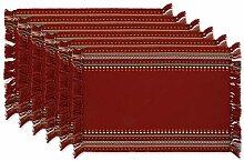 DII Küchentextilien Placemats, 13x19 Rote Chipotle