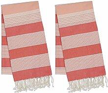 DII Türkisches Fouta-Handtuch, 100 % Baumwolle,