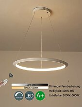 Dimmbar LED Pendelleuchte Modern Rund 1 Ring
