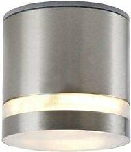 Dimmbare Edelstahl GX53 LED 7 W satiniert warmweiss - Aufbauleuchte Lampe 230 V - IP44
