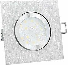 Dimmbare LED Decken Einbauleuchte Ultra flach