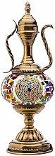 DIMPLEYA Türkische Tischlampe Teekanne Mosaik