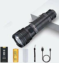 DingDeng LED Taschenlampe USB Aufladbar, 2000