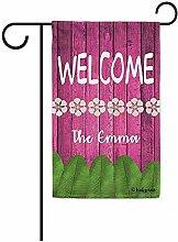 dingjiakemao Außenbanner,Willkommen Blumen