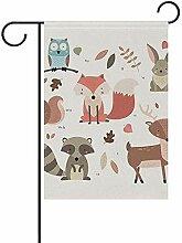 dingjiakemao Garten Banner,Niedliche Kleine Tiere