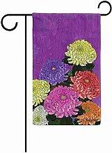dingjiakemao Garten Flagge,Bunte Blumen Frühling