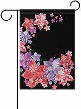 dingjiakemao Gartenflaggen,Bunte Sterne Blumen
