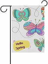 dingjiakemao Yard Flags,Bunte Schmetterlingsgarten