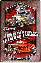dingleiever - American Dream Blechschild Hotrod