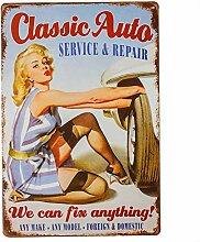 dingleiever - Metallblechschilder Classic Auto