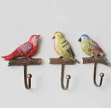 dingtian Haken 3 Stück 3D Bird Resin Craft