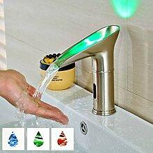 dingwen Wassersparende LED-Lichtbecken Wasserhahn