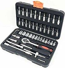 Dingziyue 46 Stück Steckschlüssel-Set