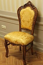 Dining chair, baroque style, golden fabric NkCh0690HzGoBq