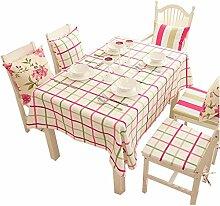 Dinner Tuch Tuch Tuch europäischen Stil Garten Gitter Baumwolle Leinen modernen Tischdecke 160 * 180cm , #2 , 140*220cm