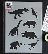 Dinosaur Schablone Heim Wand Dekoration & Handwerk