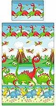 Dinosaurier Bettwäsche-Set, Mädchen und Jungen