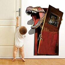 Dinosaurier Breaking Door 3D Ansicht Kinder Baby
