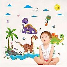 Dinosaurier Cartoon Vinyl Abnehmbare Aufkleber