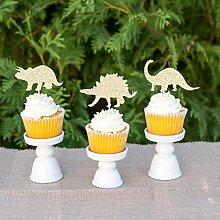 Dinosaurier-Cupcake-Topper zum 1. Geburtstag,
