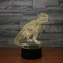 Dinosaurier Lovely 7 Farbwechsel 3D Lampe
