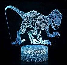 Dinosaurier-Themenkennzeichen 3D-Lampe Spiel
