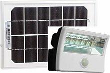 Diodor LED Solar Fluter mit Bewegungsmelder und Fernbedienung, 1 Stück, weiß, DIO-FL16W-WM-SP-W