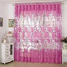 Diossad Transparent Gardinen Violett Vorhang