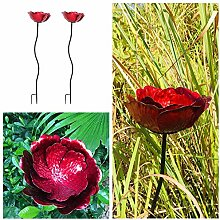 Dipamkar® 2er Set Rosen Gartenskulptur -