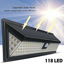 Dire-wolves Solar-Wandlampe 118 LED Helles