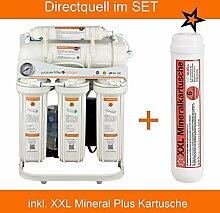 Directquell Umkehrosmose Wasserfilter inkl. XXL Mineralkartusche im Set. KEIN TANK NÖTIG!