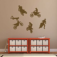 Dirt Bikes Wandtattoos Set Sport Kinderzimmer Man