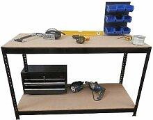 Dirty Pro toolstm Heavy Duty Metall Werkbank 1,5m Länge und verstellbar Werkbank