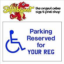 Disabled Parking mit Reg oder nicht wetterfest