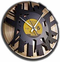 Disc 'o' clock Wanduhr Vinyl Skin Big Bang, Gold