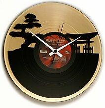 DISC´O´CLOCK Wanduhr Vinyl Sunset, Gold